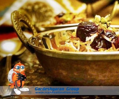 Iranian Food , Albaloo Polow , Iran Destination