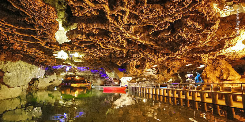 Alisadr Cave, the largest water cave in the world, located in Iran, Hamedan