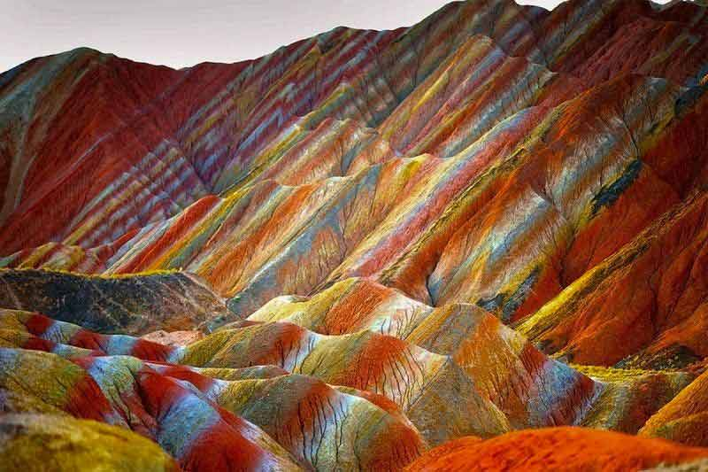 Qeshm Island, the rainbow mountains