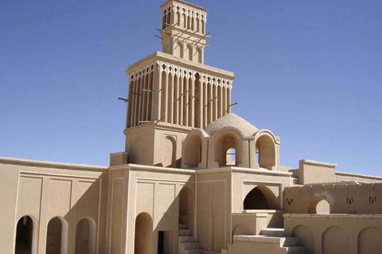 Windward in Yazd, tradition system of weather cooler