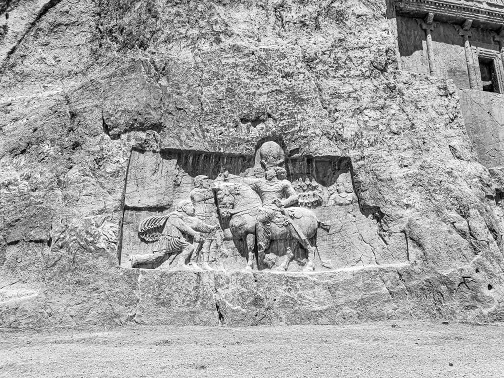 Ancient relief in Naghshe Rostam, photo: Sam Davani (@samdavani )