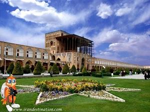 visiting Ali Qapu Palace during Iran Cultural tour