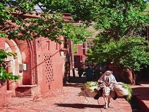 visiting Abyaneh Village, in Isfahan Province, Iran