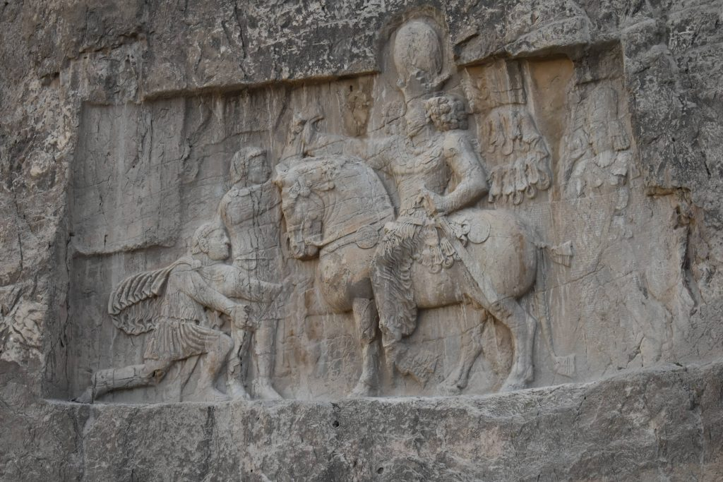 Sassanid relief depicts the victory of Persian army on ancient Rome; photo: @SamDavani