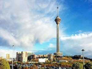 Visiting Milad tower during tour around Iran