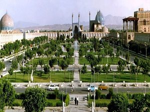Naqshe Jahan Square in Esfahan during tour around Iran