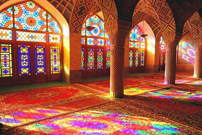 Where colors dance forever, the Pink Mosque of Shiraz