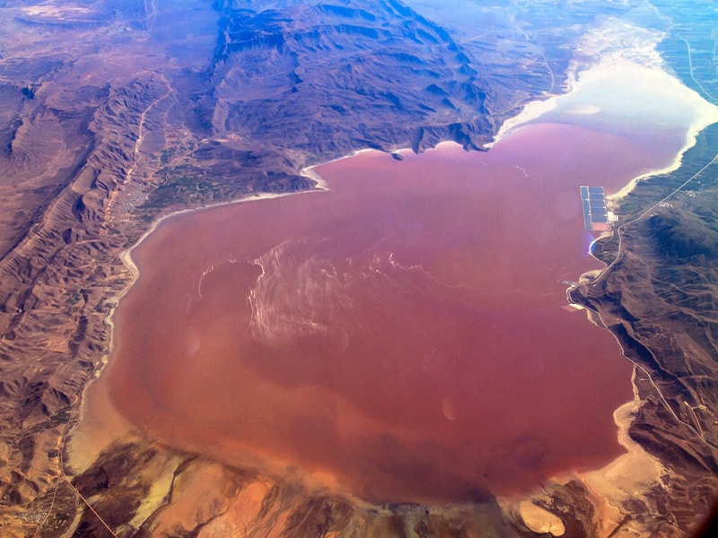 Pink lake in Shiraz