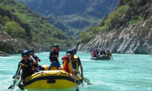 Rafting in Armand. Iran Adventure Tour