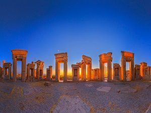 Visiting Persepolis during Tour around Iran
