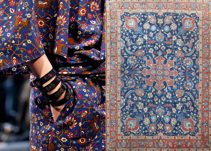 Tabriz rugs inspired collection by Hermes