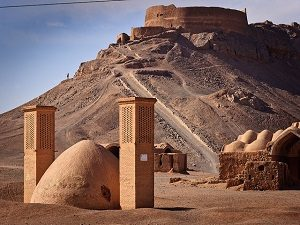 visiting Towers of Silence during Traditional sports of Iran tour