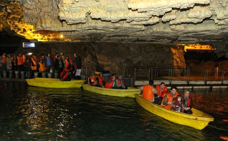 alisadr cave in Hamedan, Iran