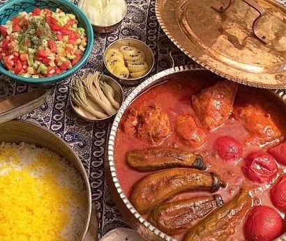 eggplant and tomato stew- Persian food