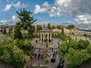 visiting Hafez Tomb during Iran Cultural Tour