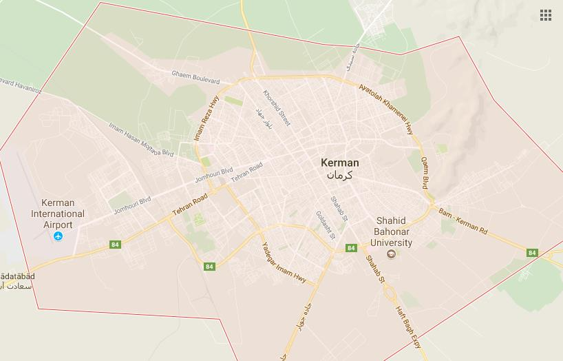 kerman google map