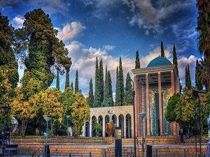 visiting Saadi Tomb during IRan cultural tour