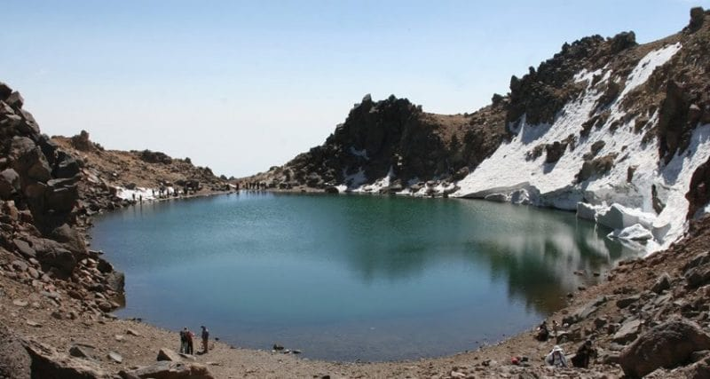 sabalan Mount , Lake , Iran Mountain