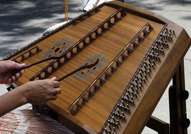 santur - Persian traditional music instrument