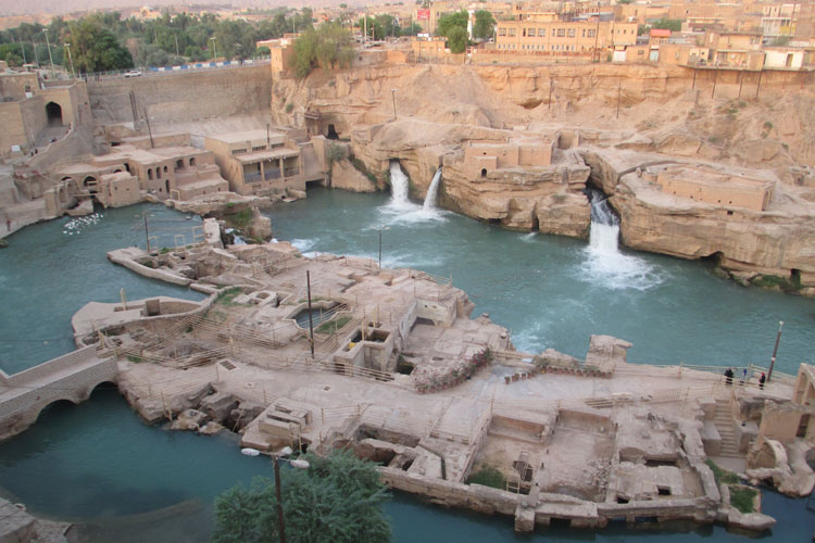 Shushtar historical hydraulic system - winter in Iran
