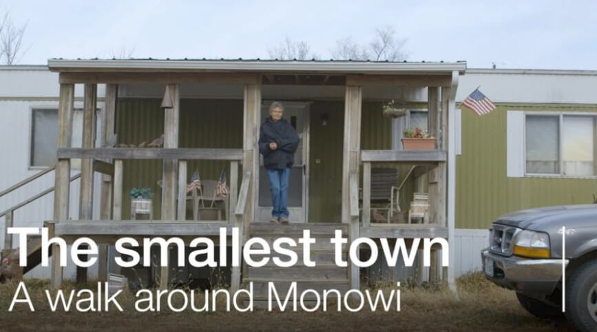 The tiny town with a population of one