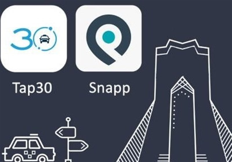 snapp and tap30 prices in Iran