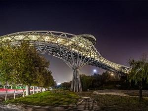 Visiting Tabiat Bridge in Iran Cultural Tour