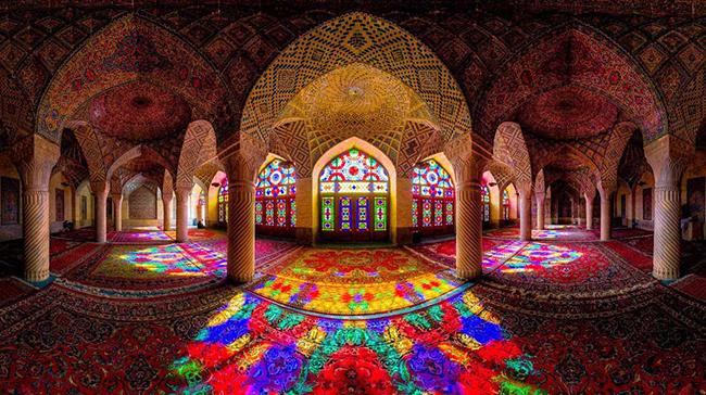 pink mosque - shiraz - Tour of Persia