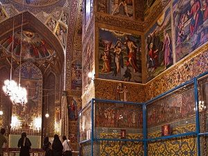 Vank cathedral during tour around Iran