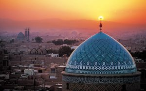 visiting Yazd Jaame mosque in Tour around Iran