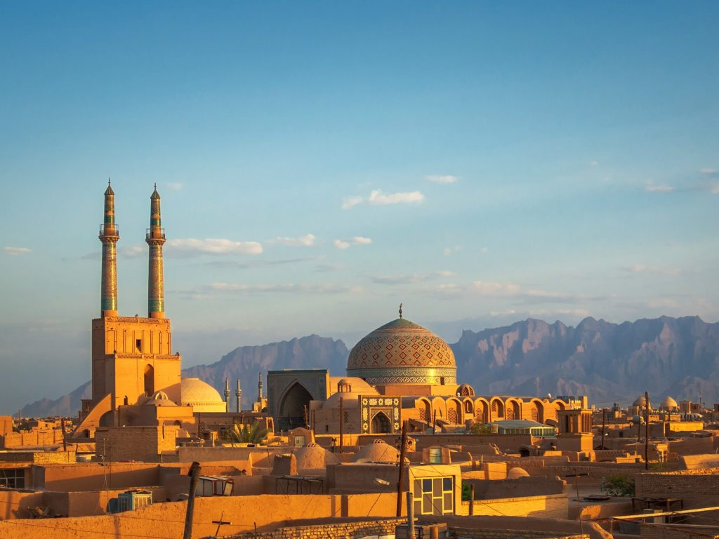 yazd jame mosque- beautiful mosques in Iran